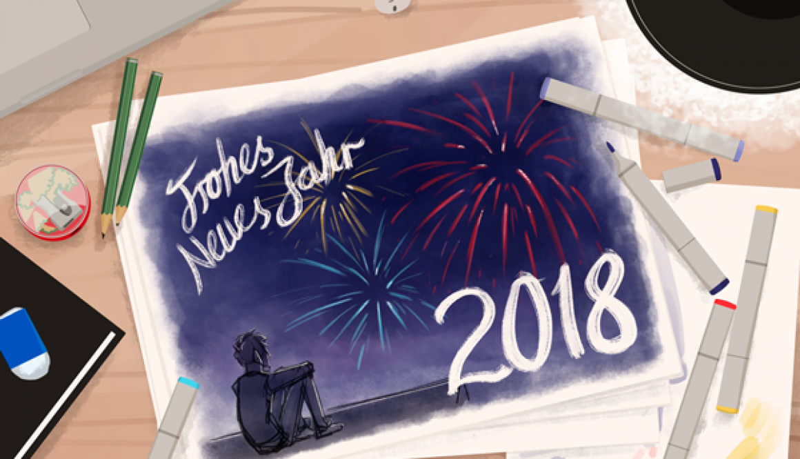 Frohes_Neues_Jahr_2018_Felix_Kaiser_Illustrationen